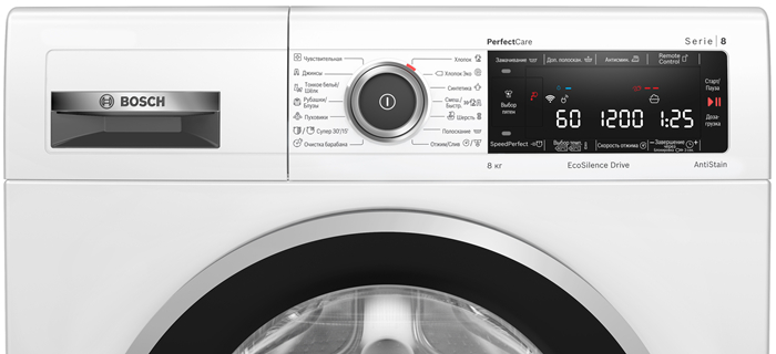 Обновленные стиральные машины Bosch PerfectCare: умные технологии и увеличенный объем загрузки