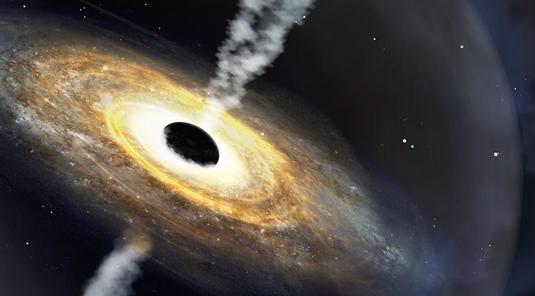 В созвездии Эридана обнаружен самый далёкий и тяжёлый квазар