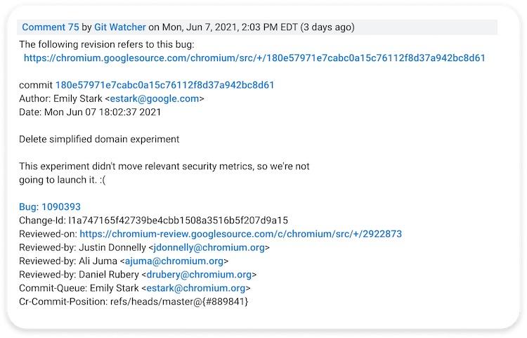Google перестанет экспериментировать с адресной строкой в Chrome — URL-адреса снова будут отображаться целиком