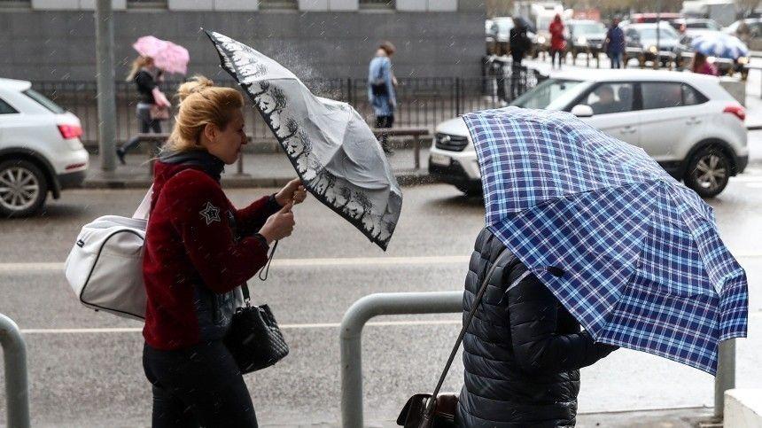 Циклон «Кийан» сломал деревья и раскидал ограждения на улицах Петербурга