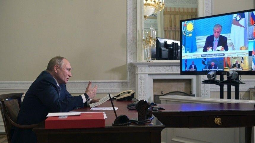 Путин призвал Евразийский экономический союз к сплочению на фоне санкций