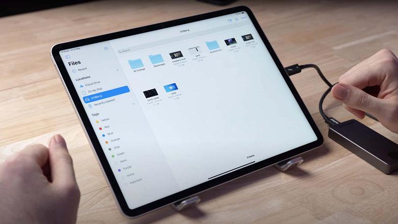 Новый iPad Pro в разы медленнее передаёт данные посредством Thuderbolt 3, чем новый MacBook Pro