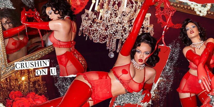 Рианна снялась с сердечками на сосках в эротической фотосессии ко Дню святого Валентина