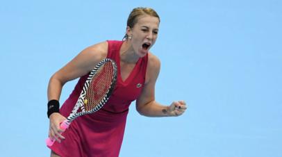Павлюченкова победила Брэйди и вышла в четвёртый круг турнира WTA в Мадриде