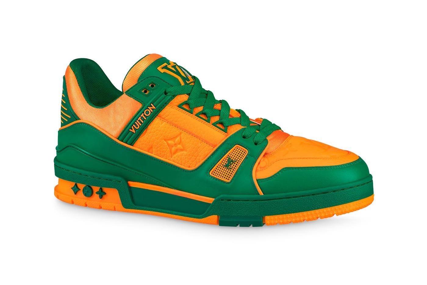 Louis Vuitton сочетает зелёный и оранжевый в кроссовках LV Trainer