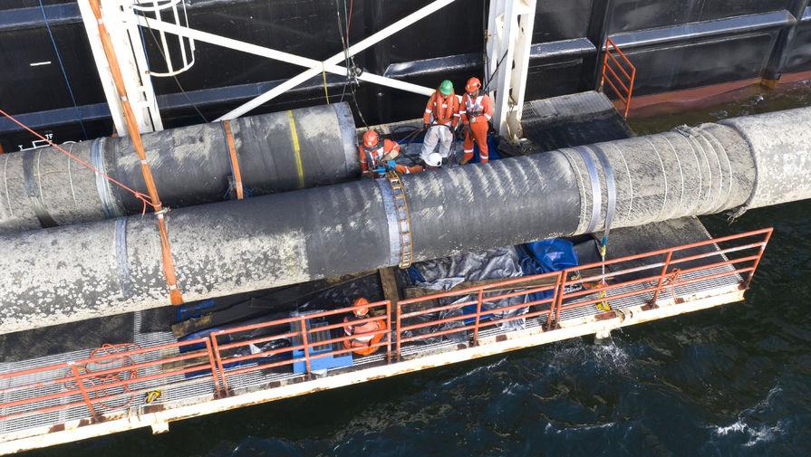 Оператор заявил о завершении морской части второй нитки 'Северного потока ‑- 2'