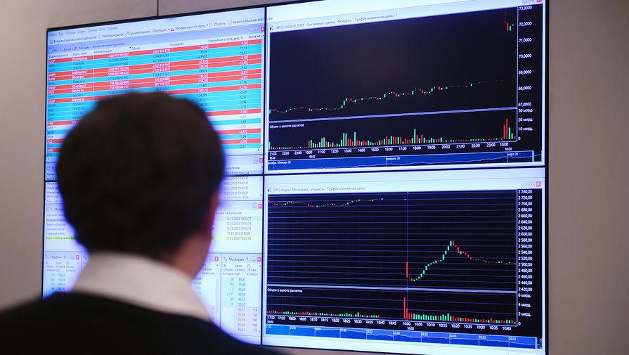 Курс евро на Мосбирже впервые с 29 июня опустился ниже 86 рублей
