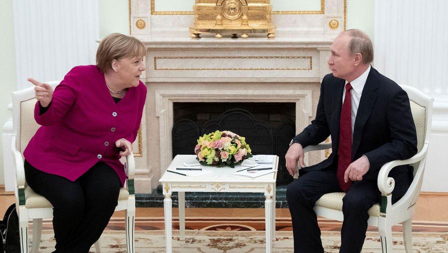 Меркель обсудила с Путиным 'Северный поток – 2'
