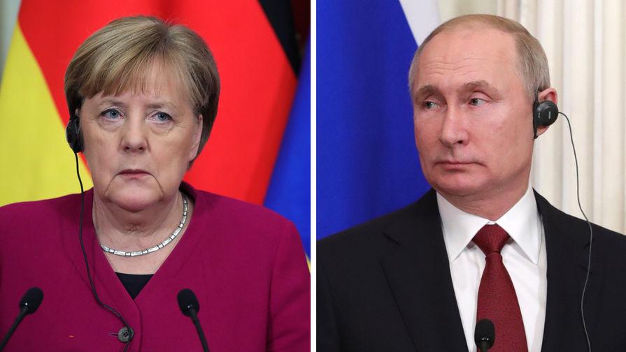 Путин и Меркель обсудили перспективы производства вакцин от COVID-19