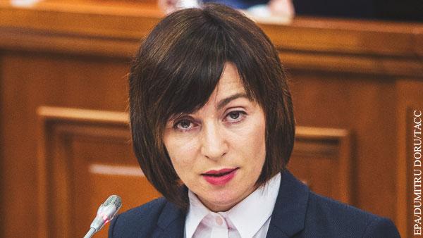Санду назвала «нечестным» долг Молдавии перед Газпромом
